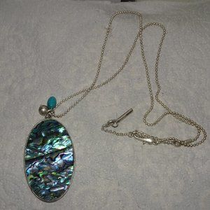Kenneth Cole NY Abalone Pendant Necklace